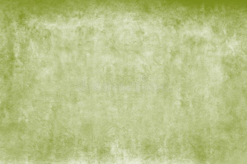 Weathered green and white watercolors coarse facade wall as an empty rustic background stock photography