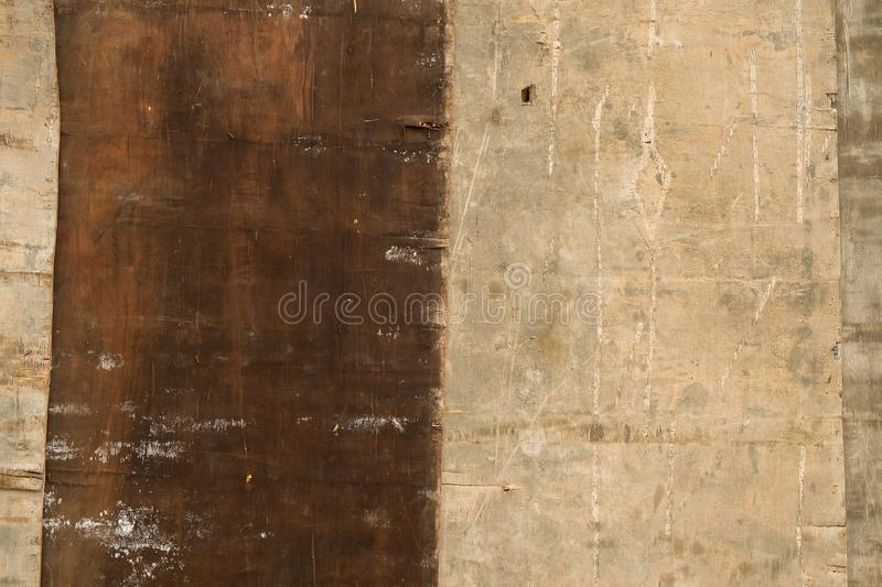 Weathered and Grunge Ply Wood in the Construction Site.  stock photos