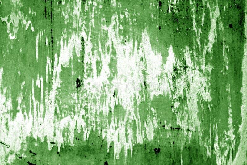 Weathered målade metallväggen i grön färg royaltyfri fotografi
