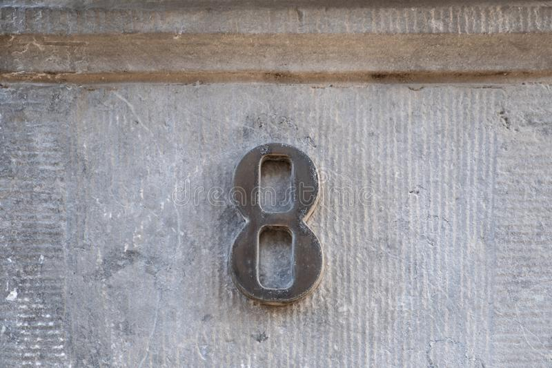 House Number 8 stock photos