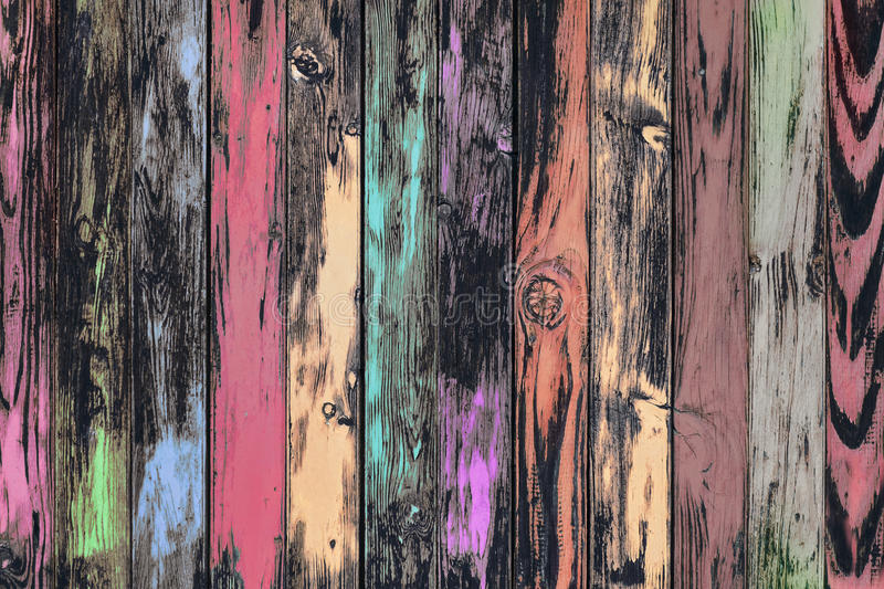 Weathered multicolored board wall stock photos