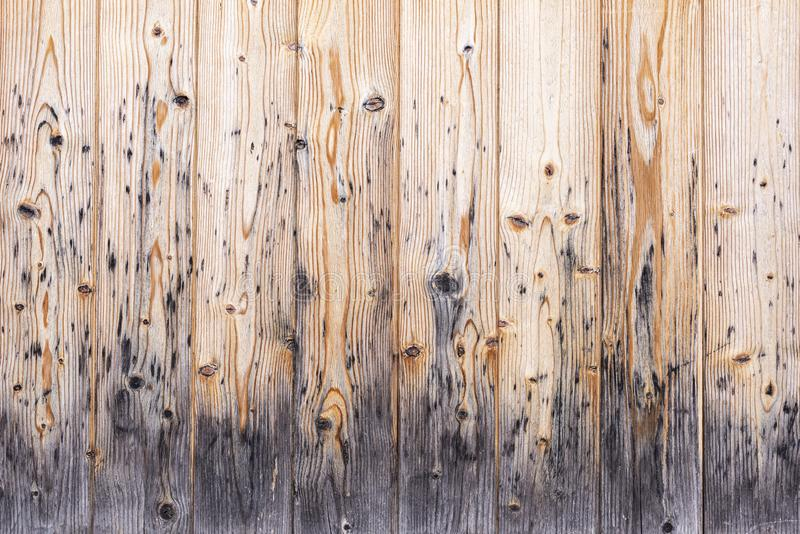 Weathered old brown wooden boards with grain royalty free stock photo
