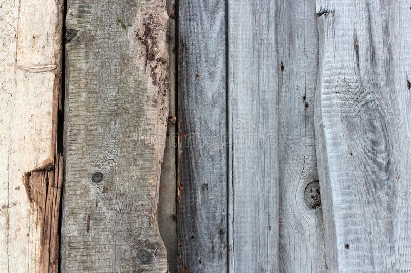 Weathered Old Wooden Wall Detail Simple Gray Boards With Knotholes