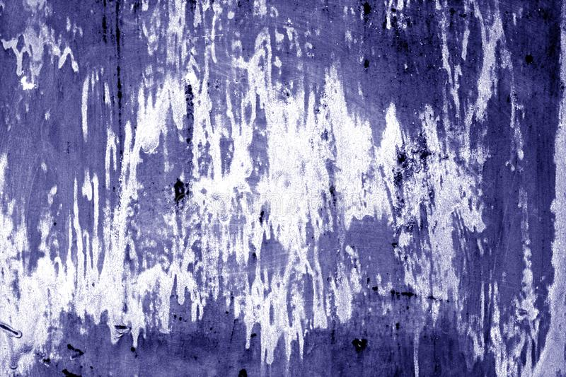 Weathered painted metal wall in blue color. Abstract background and texture stock images