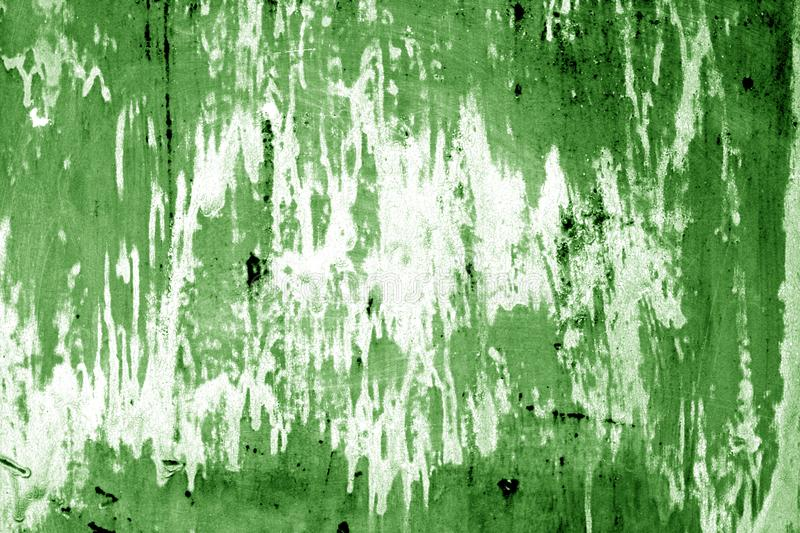 Weathered painted metal wall in green color. Abstract background and texture royalty free stock photography