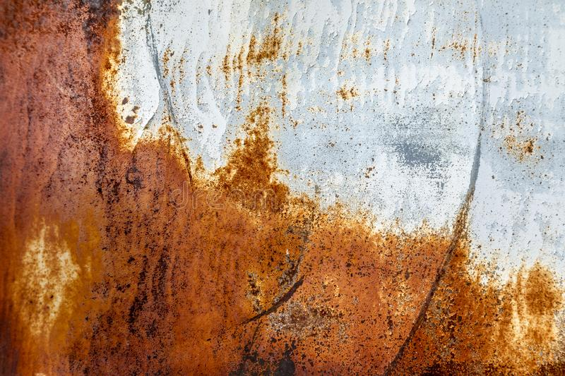 Close up of weathered and rusted metal panel stock images