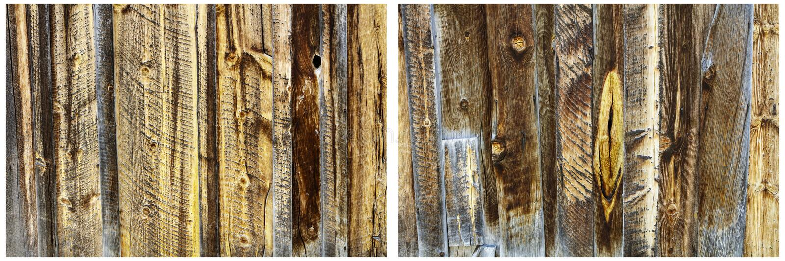 Wood panel wall boards tarnished background collage stock image