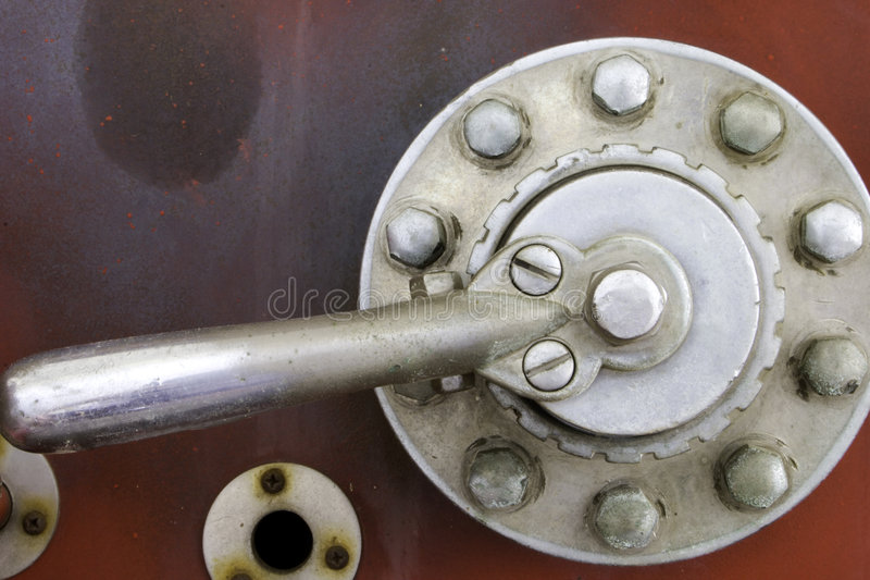 Weathered Steel Lever royalty free stock image