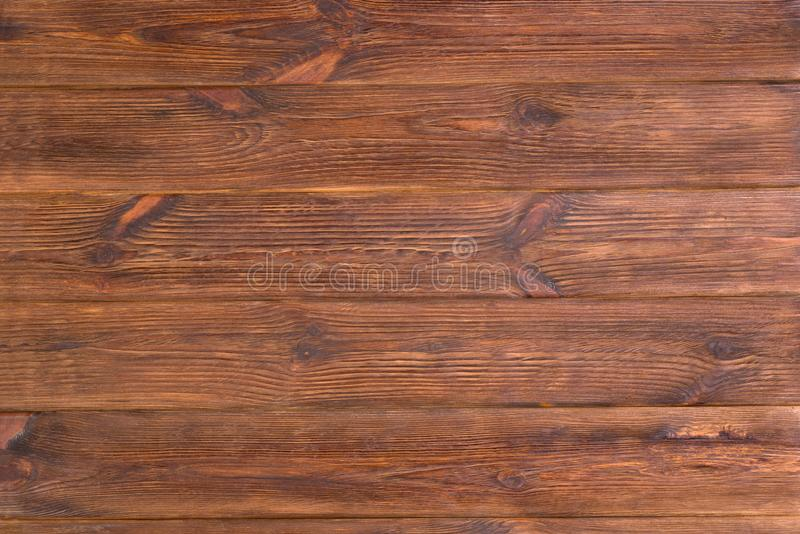 Weathered old brown rustic wooden planks background. Table top stock image