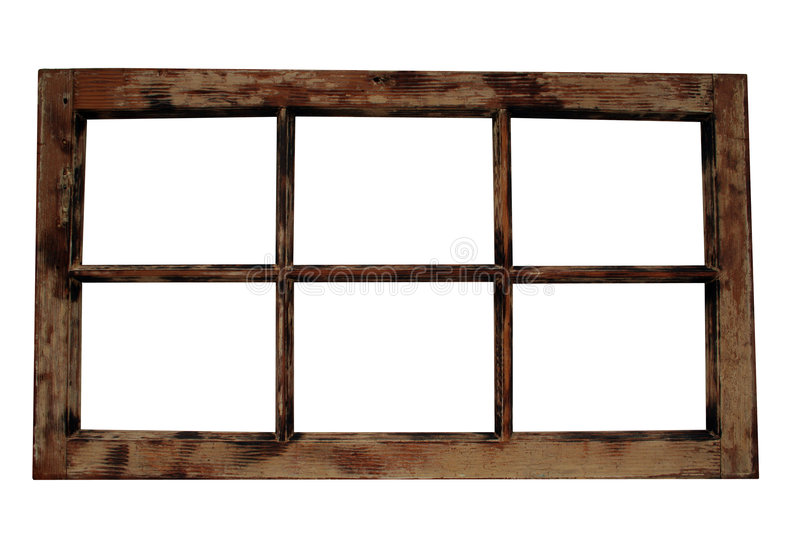 Weathered Window Frame Royalty Free Stock Images