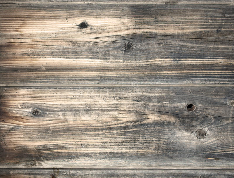Weathered wood. Planks of old, Weathered wood royalty free stock photos