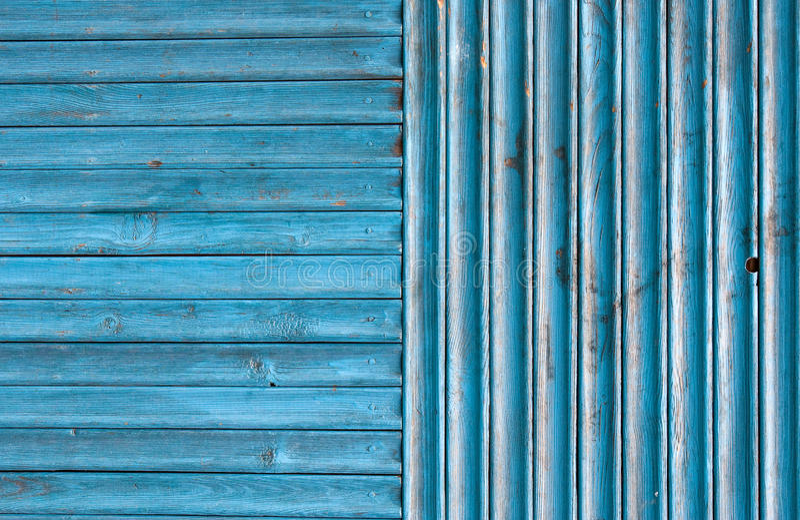 Blue Weathered Wood Fence Background stock images