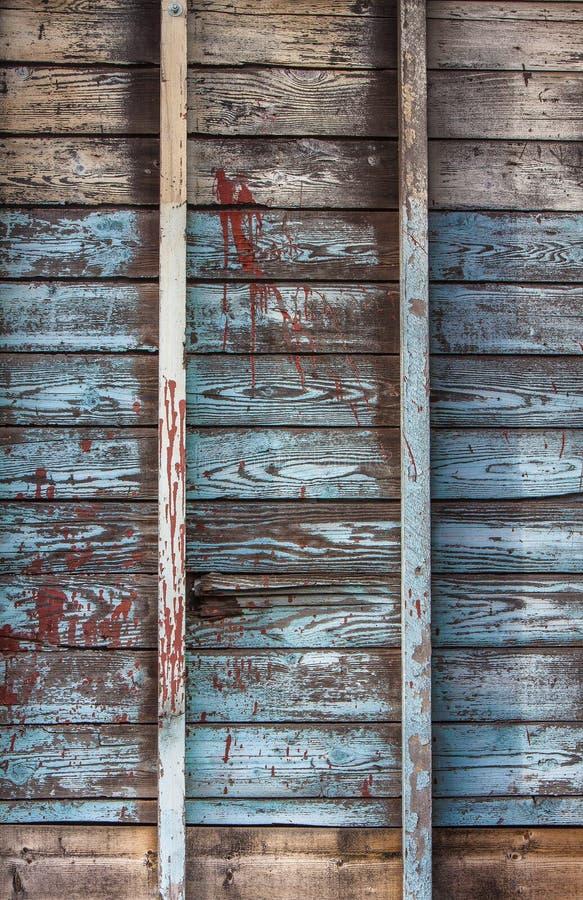 Weathered wood building framing stock image