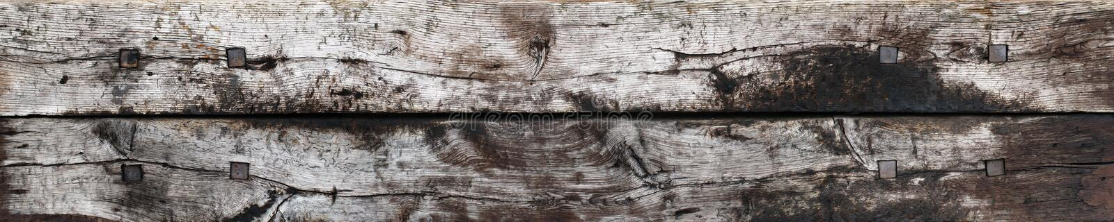 Weathered Wooden Planks Texture Royalty Free Stock Image