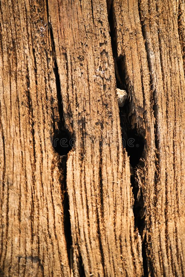 Wooden texture from used railway sleeper royalty free stock images
