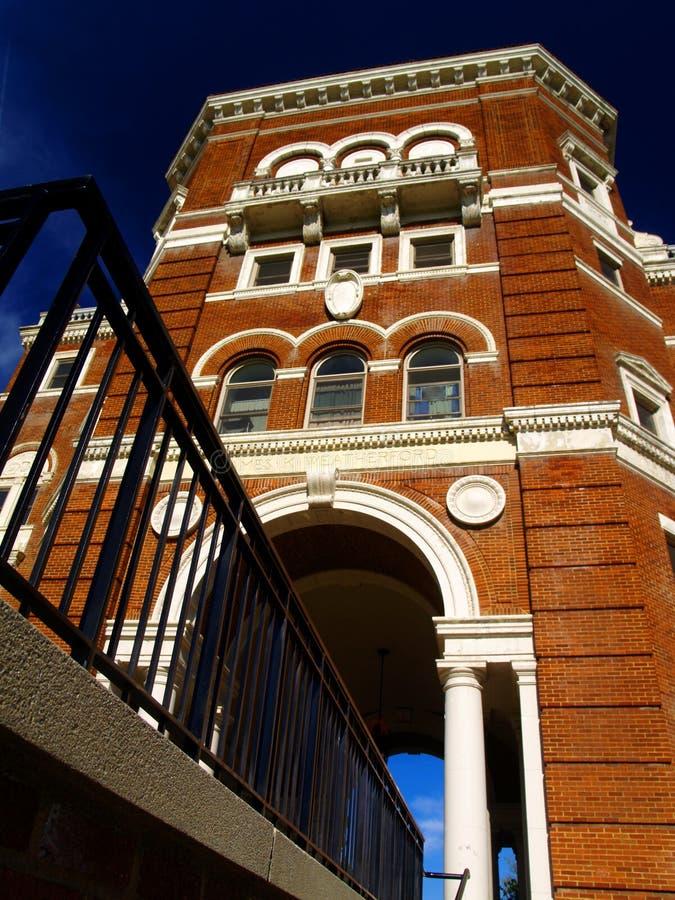Weatherford Hall Eingang lizenzfreie stockfotografie