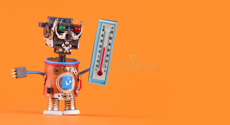 Weathermen Robot With Thermometer Displaying Comfort Room ...