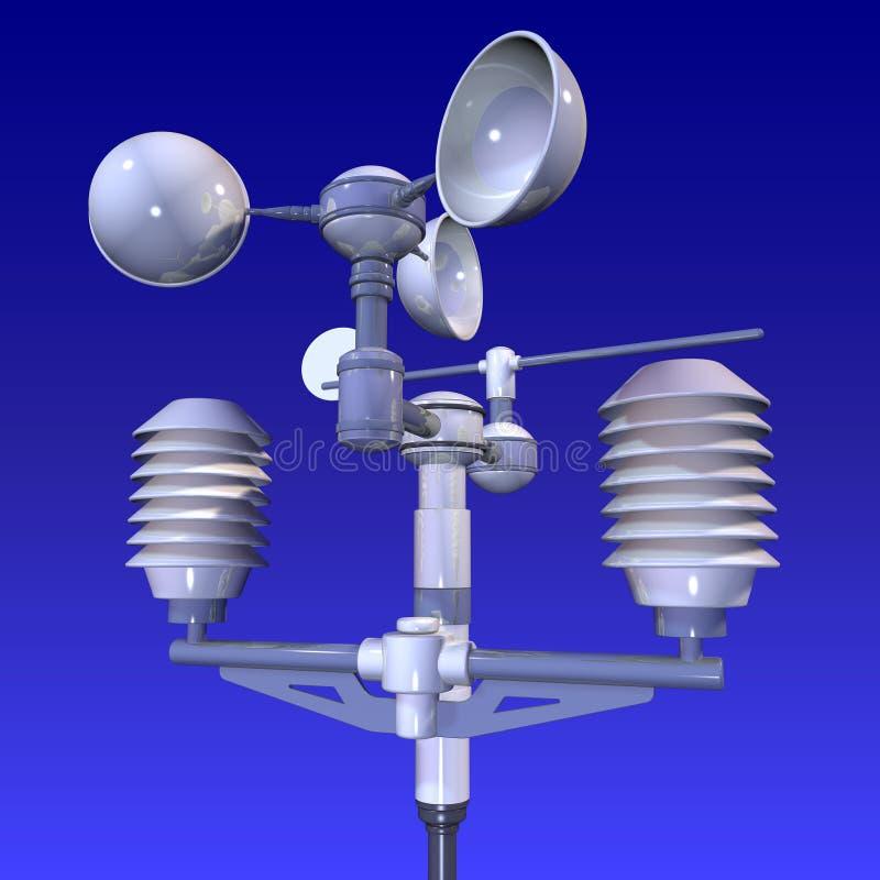 Weatherstation meteorológico ilustração royalty free
