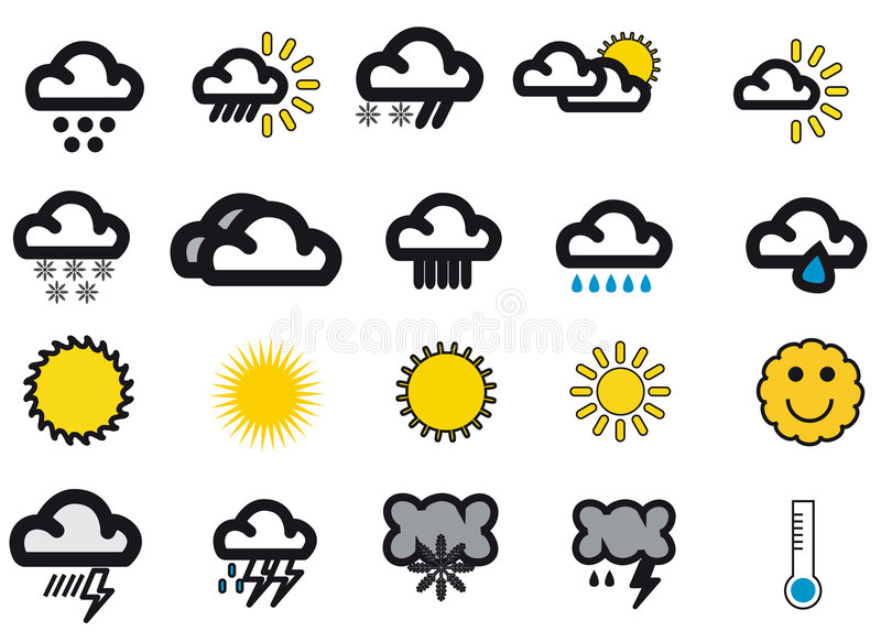 Weathersymbols libre illustration
