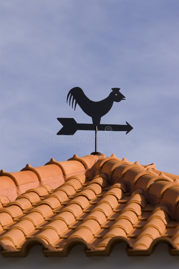 weathervane royaltyfria bilder