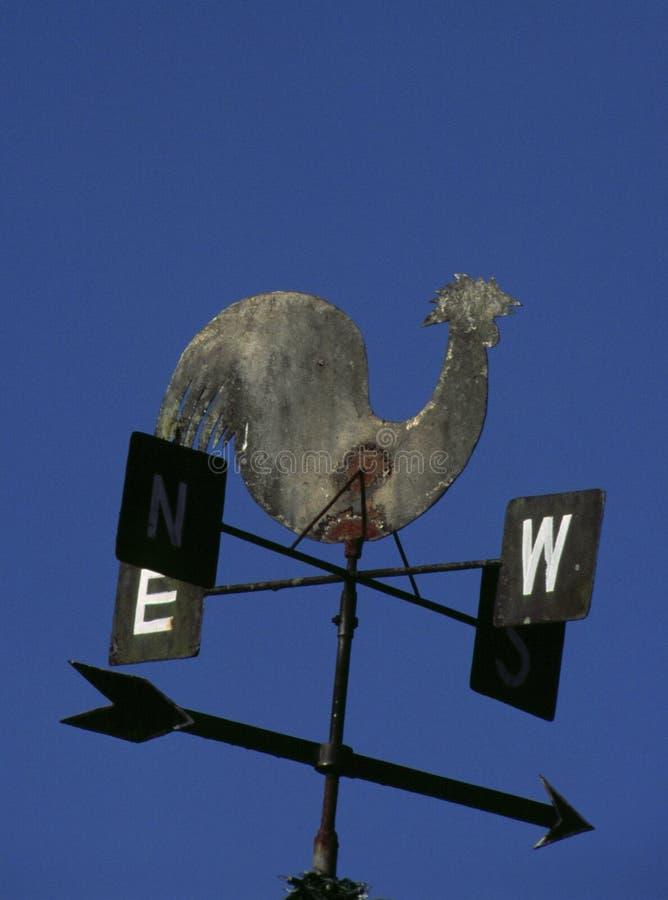 Weathervane avec le coq photo libre de droits