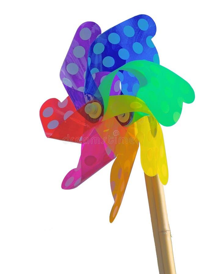 Weathervane colorido del juguete - aislado imágenes de archivo libres de regalías