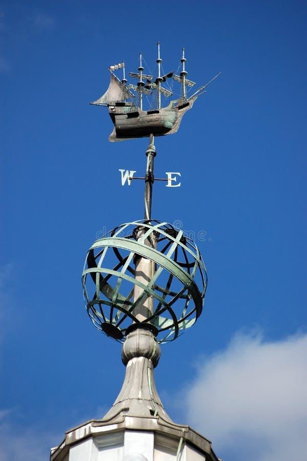 Weathervane del porto di Southampton immagine stock libera da diritti