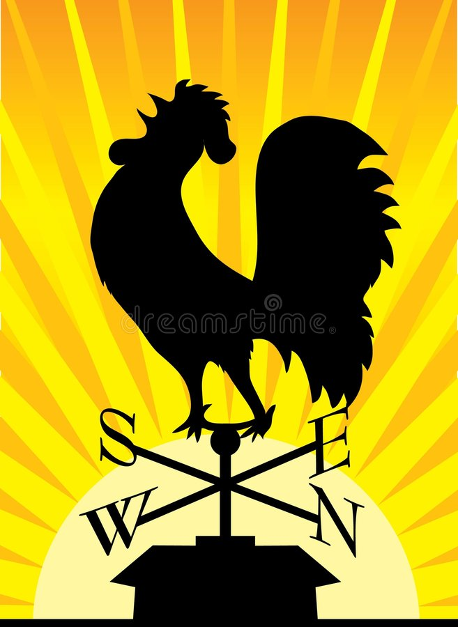 Free Weathervane Rooster Royalty Free Stock Images - 2980279