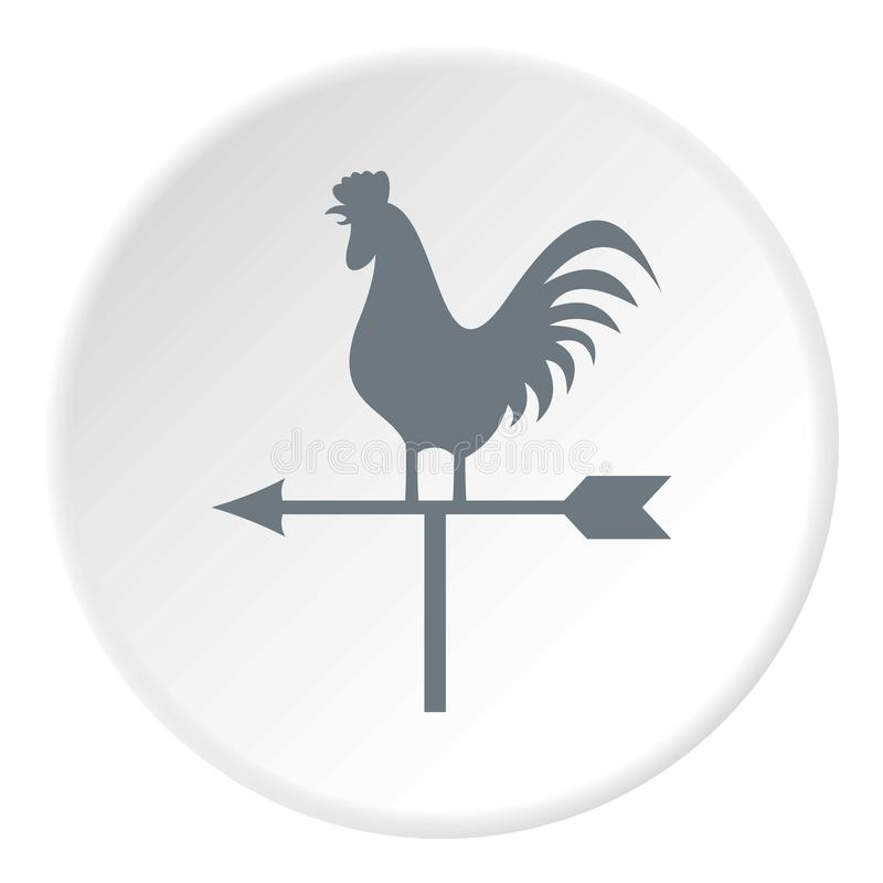 Weathervane rooster icon, flat style royalty free illustration