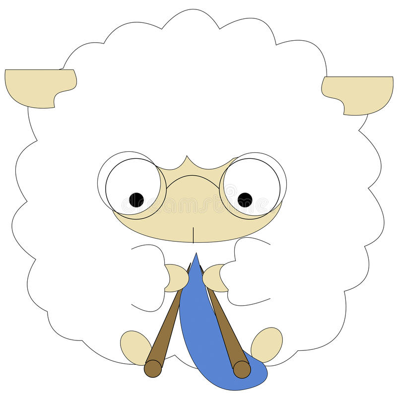 Weave белых овец стоковое изображение rf