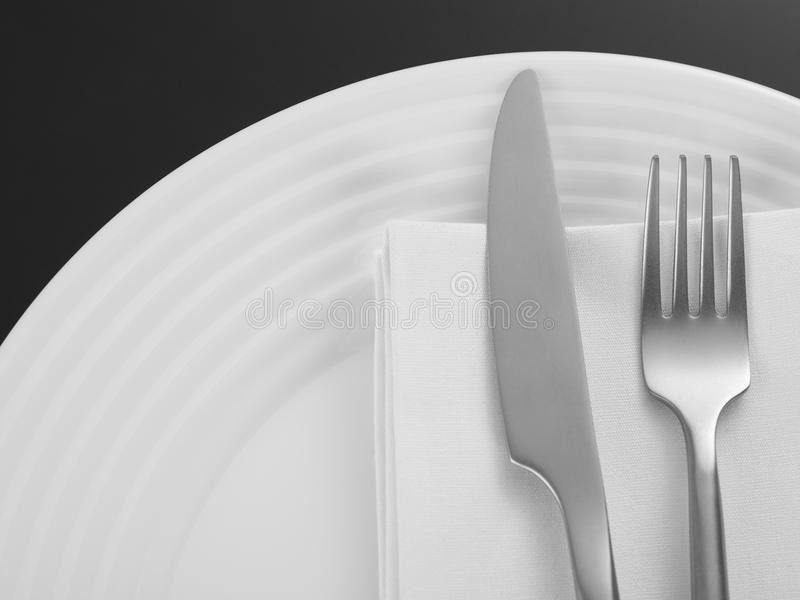 weave вектора плиток скатерти ложки силуэтов установки ресторана имеющейся плиты места меню ножа холстинки вилки еды конструкции  стоковая фотография rf