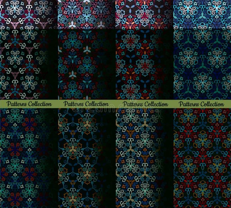 Weave делает по образцу голубые предпосылки иллюстрация вектора