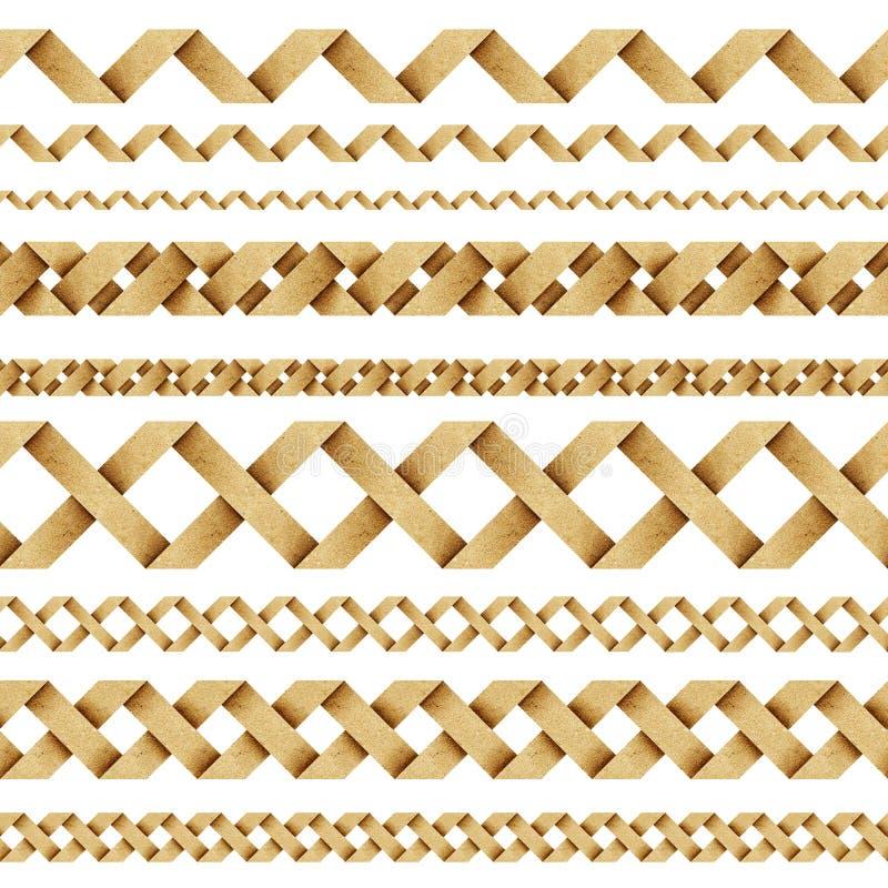 weave корабля рециркулированный бумагой иллюстрация штока