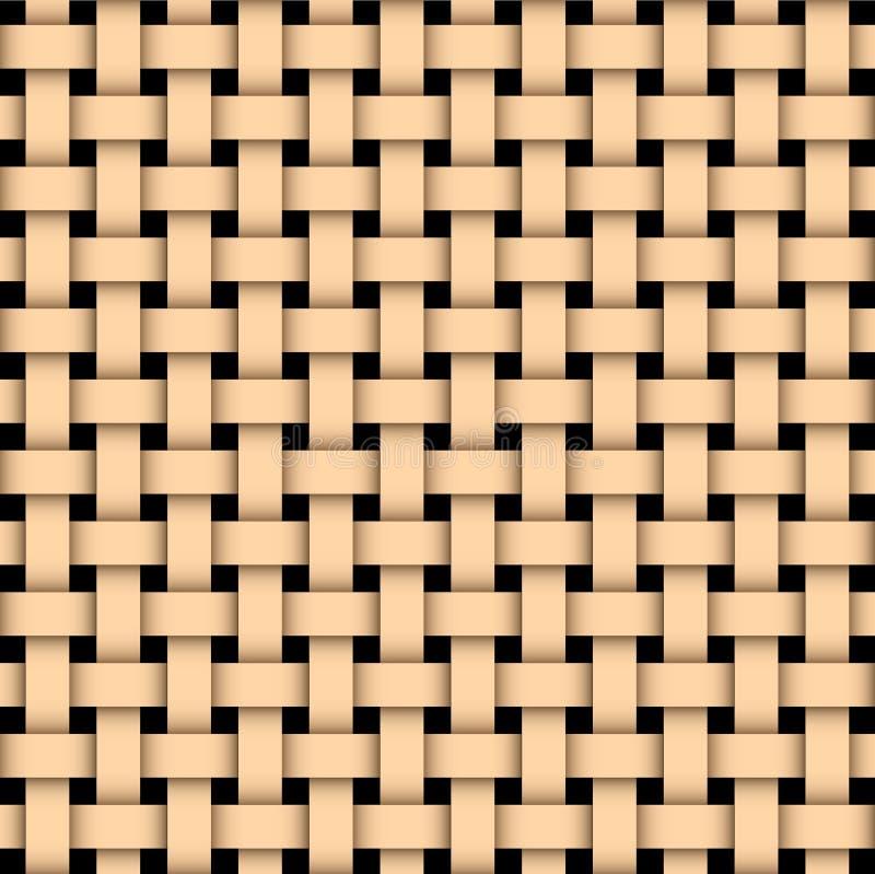 Weave basked de madeira ilustração stock