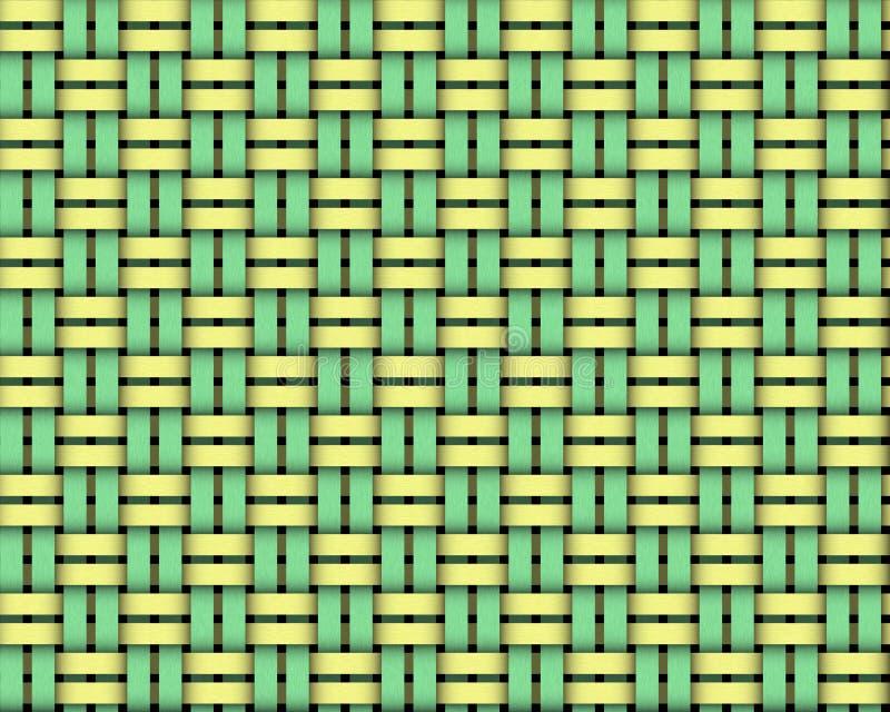 Weave basket solid stock illustration