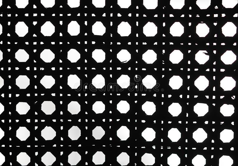 Weave Czarny I Biały Retro Wzór Zdjęcia Stock