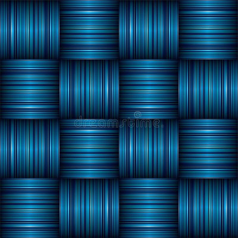 Weave da listra azul ilustração royalty free