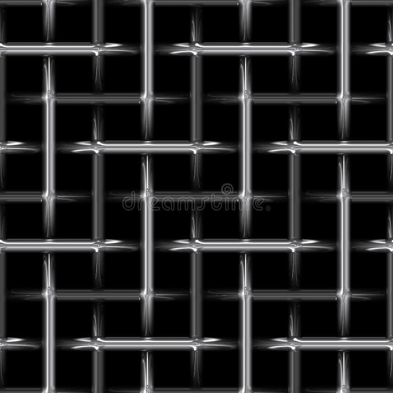 Weave de aço do metal abstrato ilustração royalty free