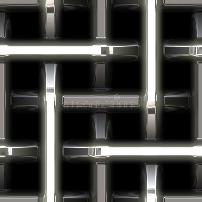 Weave de aço do metal abstrato ilustração do vetor