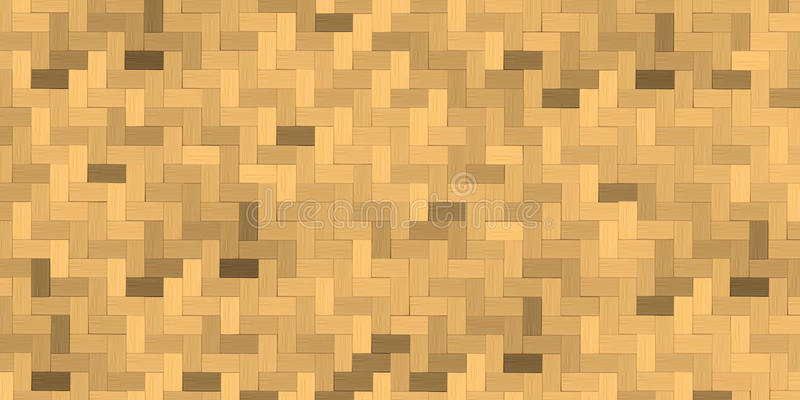 Weave de bambu, fundo da textura da cesta ilustração do vetor