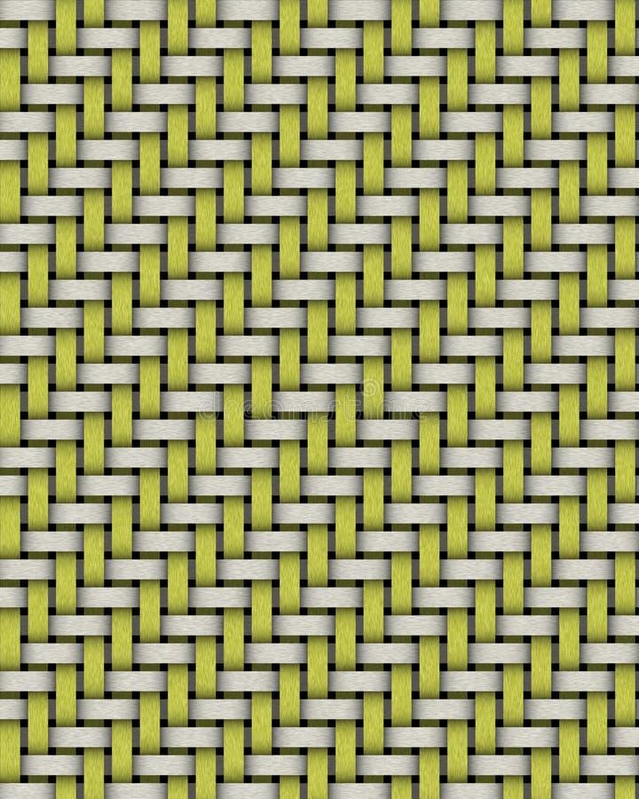 Weave de cesta do Twill ilustração stock