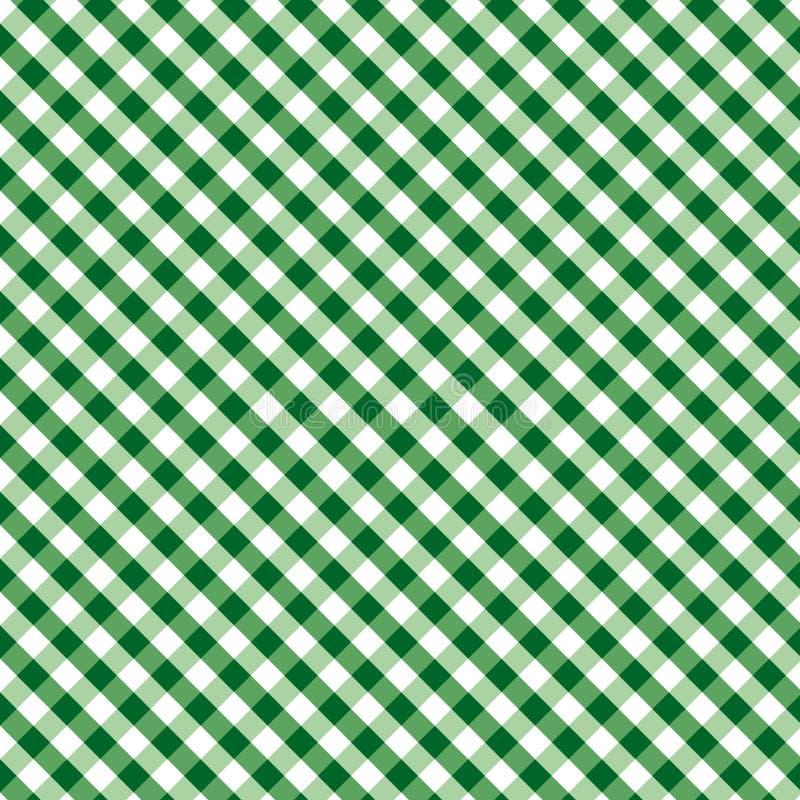 Weave do guingão de +EPS, verde, fundo sem emenda ilustração stock