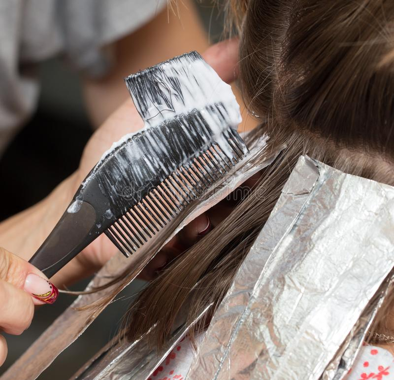 Weave Hair In A Beauty Salon Stock Photo Image Of Caucasian