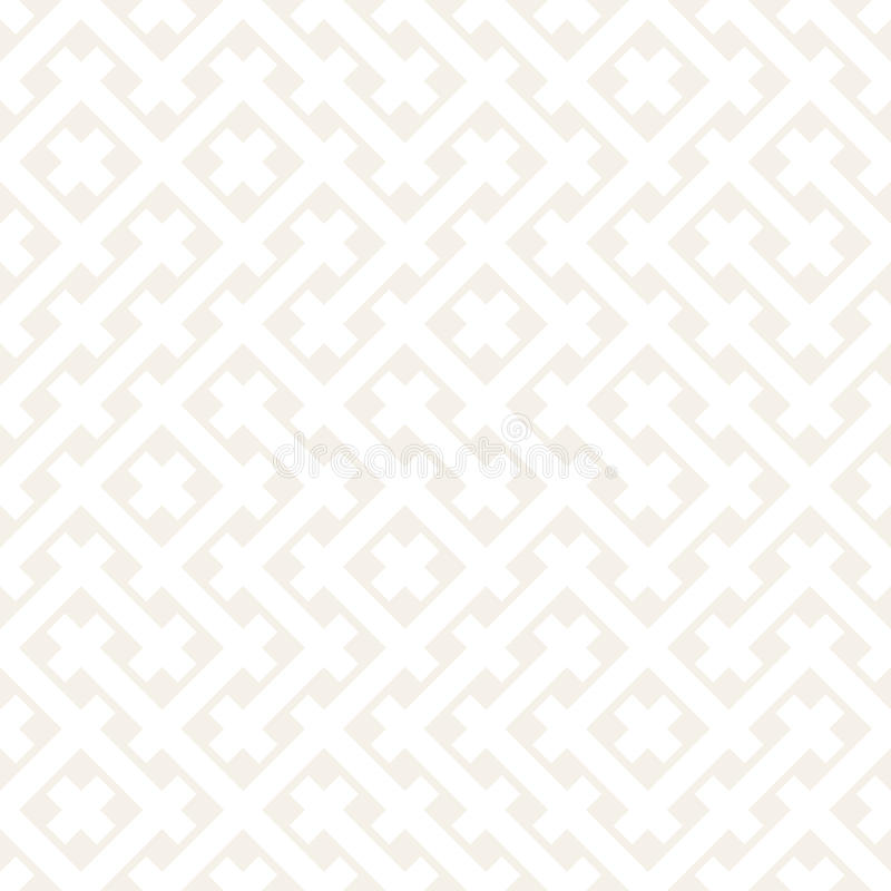 Free Weave Seamless Pattern. Stylish Repeating Texture. Black And White Geometric Vector Illustration. Stock Image - 89075321