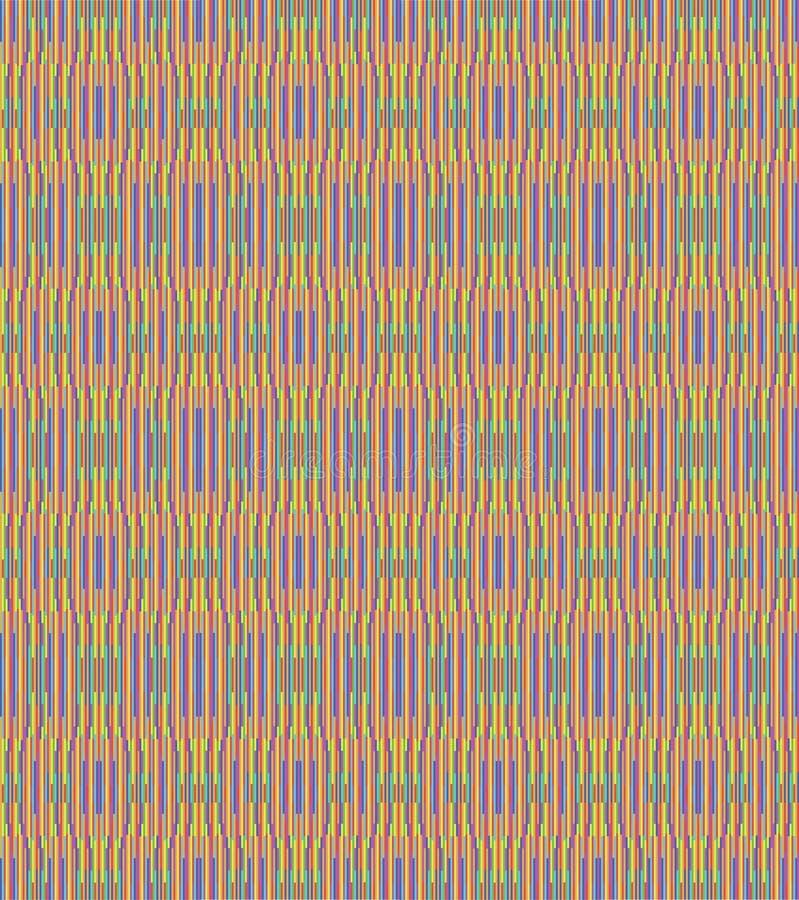 Weave sem emenda do arco-íris da repetição ilustração do vetor