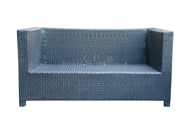 Weave Sofa Isolated On White Stock Photo