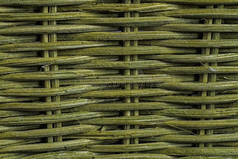 Weave verde, textura natural, cesta e esteira imagem de stock