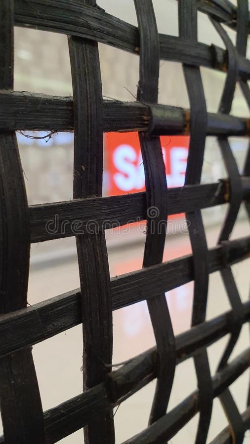 Weaved Divider Made of Native Material in Cebu, Philippines royalty free stock photo