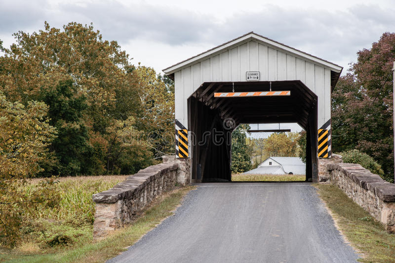 Weaver's Mill Covered Bridge stock photography