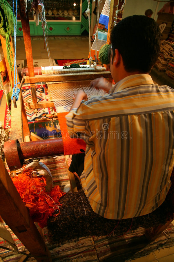 Download The Weaver At Work Stock Photo - Image: 2669590